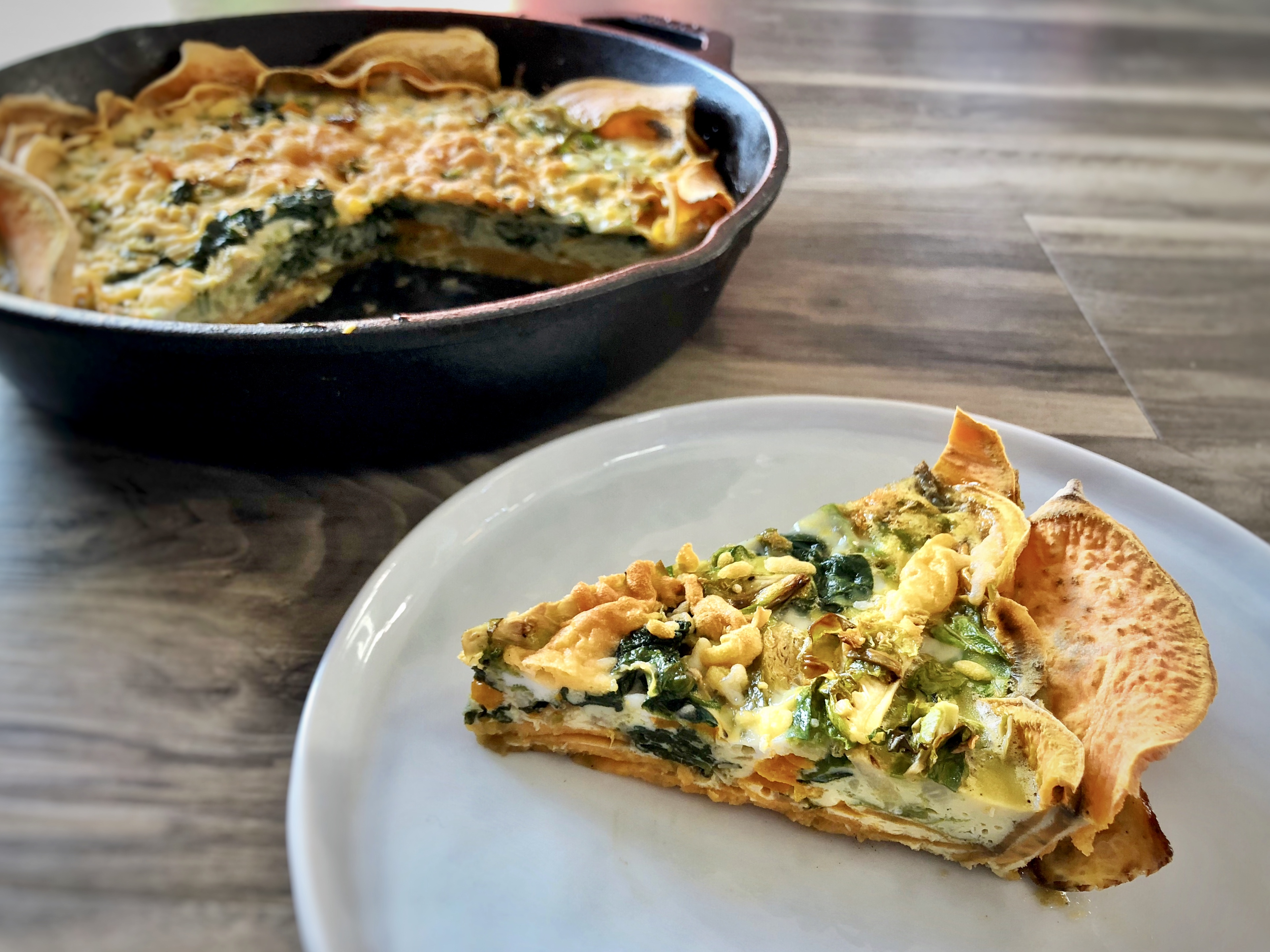 Vegetable Quiche with Sweet Potato Crust